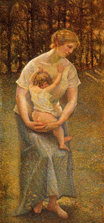 Motherhood | Maximilien Luce | oil painting