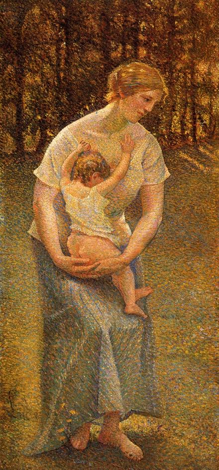 Motherhood | Maximilien Luce | oil painting