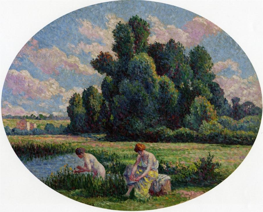 Moulineux Bathers | Maximilien Luce | oil painting