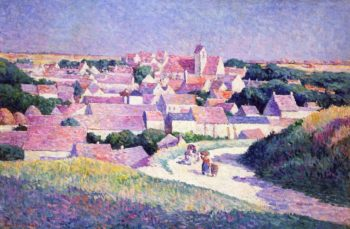 Moulineux the Entrance to the Village | Maximilien Luce | oil painting