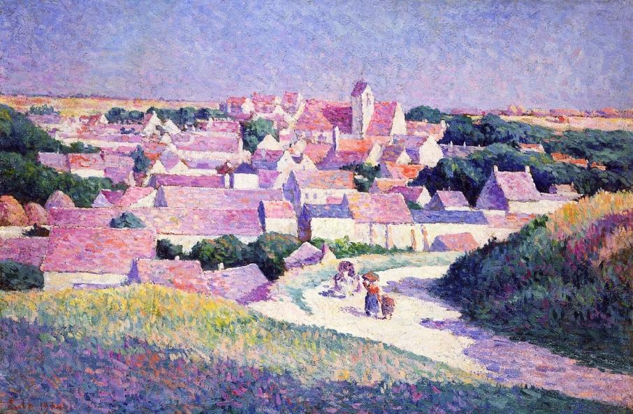 Moulineux the Entrance to the Village | Maximilien Luce | oil painting