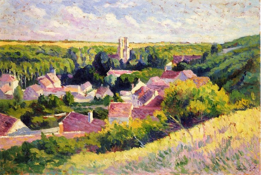 Moulineux the Village | Maximilien Luce | oil painting