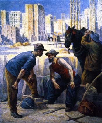 Navvies | Maximilien Luce | oil painting