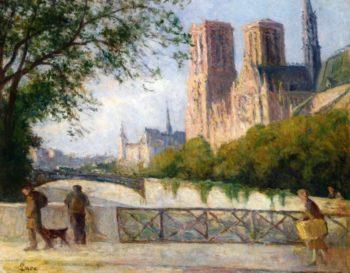 Notre Dame Paris | Maximilien Luce | oil painting