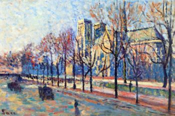 Notre Dame View from the Quay Montebello | Maximilien Luce | oil painting