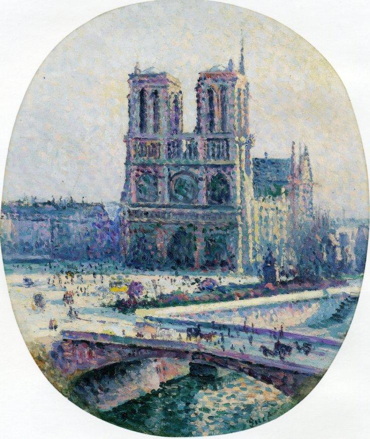 Notre Dame | Maximilien Luce | oil painting