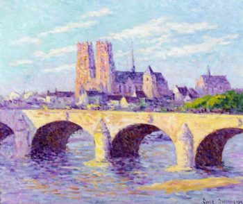 Orleans View of the Pont Georges V and the Cathedral Sainte Croix | Maximilien Luce | oil painting