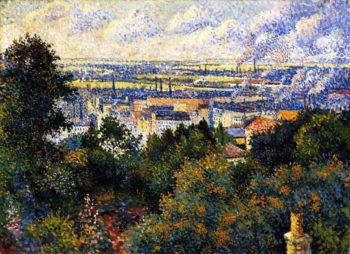 Region of Paris View of Montmartre   Maximilien Luce   oil painting
