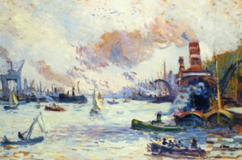 Rotterdam   Maximilien Luce   oil painting