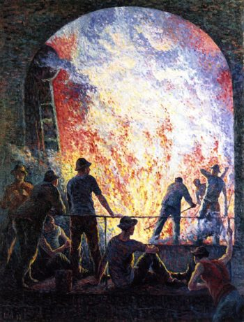 Steelworks | Maximilien Luce | oil painting