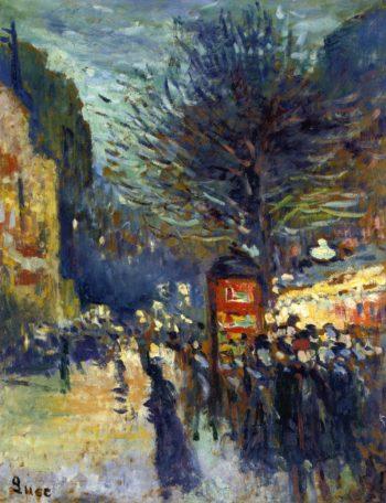 Street in Paris | Maximilien Luce | oil painting