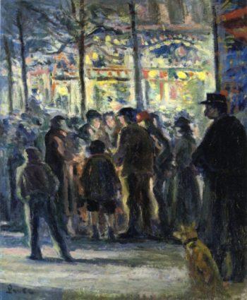 Street Scene in Winter | Maximilien Luce | oil painting