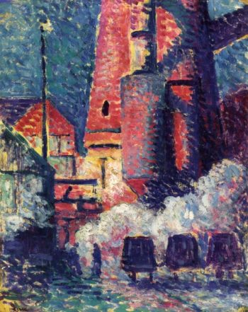 Tall Furnaces | Maximilien Luce | oil painting