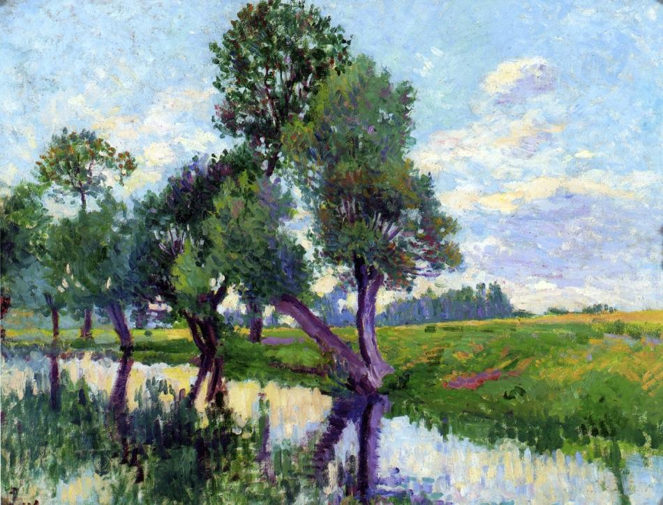 The Banks of the Cure | Maximilien Luce | oil painting