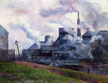 The Banks of the Sambre | Maximilien Luce | oil painting