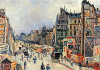The Opening of the Rue Reaumur | Maximilien Luce | oil painting