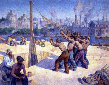 The Pile Drivers | Maximilien Luce | oil painting