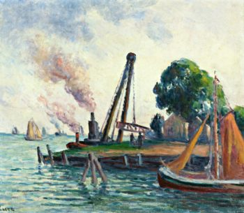 The Port of Amsterdam | Maximilien Luce | oil painting