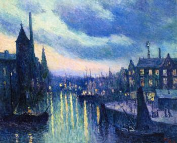 The Port of Rotterdam Evening | Maximilien Luce | oil painting