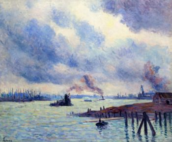 The Port of Rotterdam | Maximilien Luce | oil painting