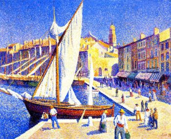 The Port of Saint Tropez | Maximilien Luce | oil painting