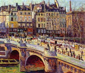 The Quai Conti Daytime | Maximilien Luce | oil painting