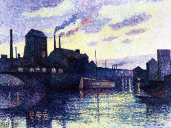 The Sambre Marchiennes | Maximilien Luce | oil painting