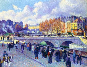 The Seine at Pont Saint Michel | Maximilien Luce | oil painting