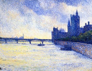 The Thames and the Houses of Parliament London | Maximilien Luce | oil painting