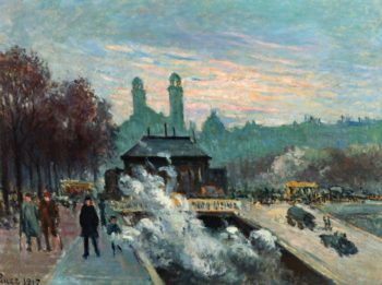 The Trocadero | Maximilien Luce | oil painting