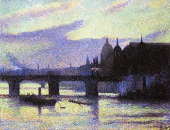View of London | Maximilien Luce | oil painting