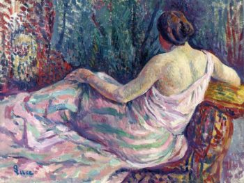 Woman from Behind | Maximilien Luce | oil painting