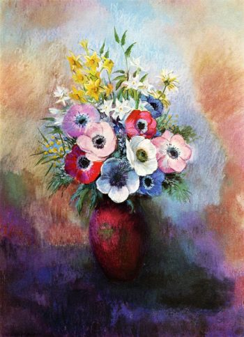 Anemones | Odilon Redon | oil painting