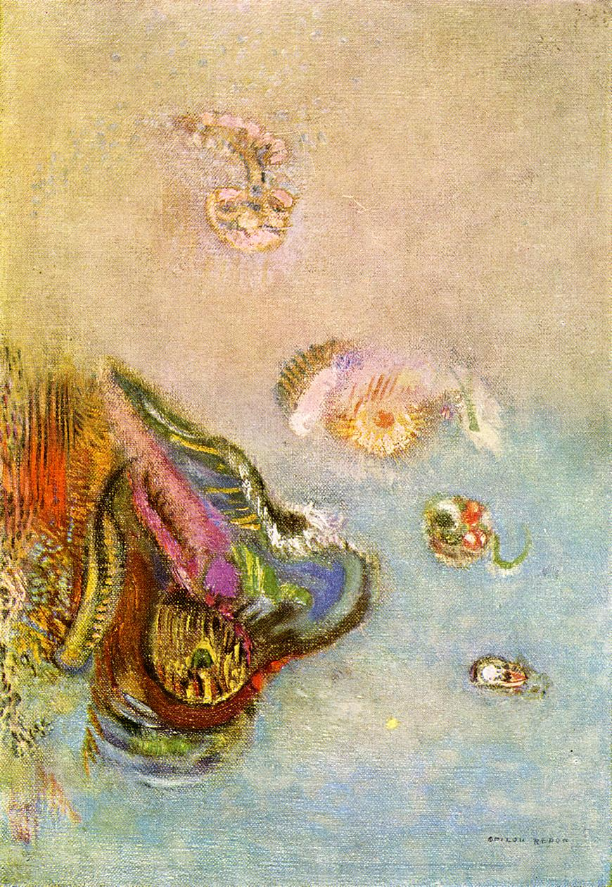 Animals of the Sea Painting | Odilon Redon Oil Paintings