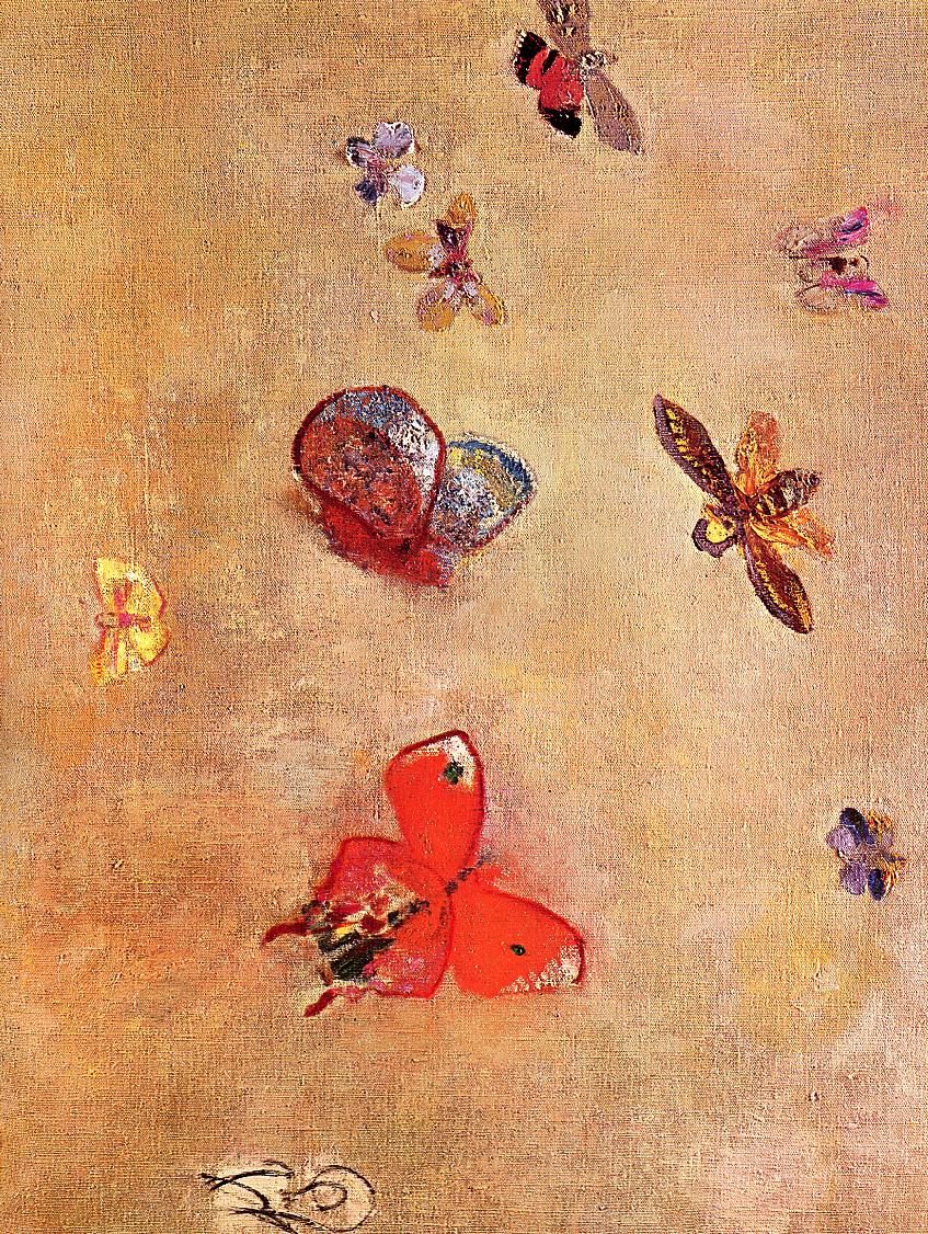 Butterflies Painting | Odilon Redon Oil Paintings