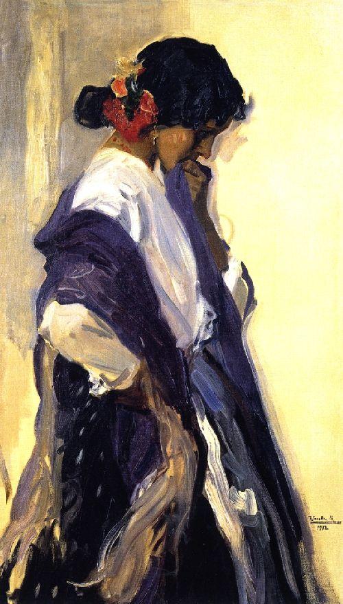 A Gypsy | Joaquin Sorolla y Bastida | oil painting