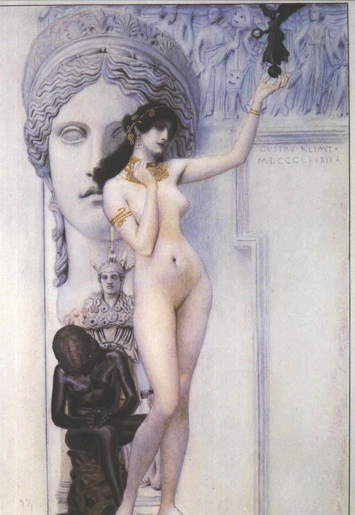 Allegory of Sculpture | Gustav Klimt | oil painting
