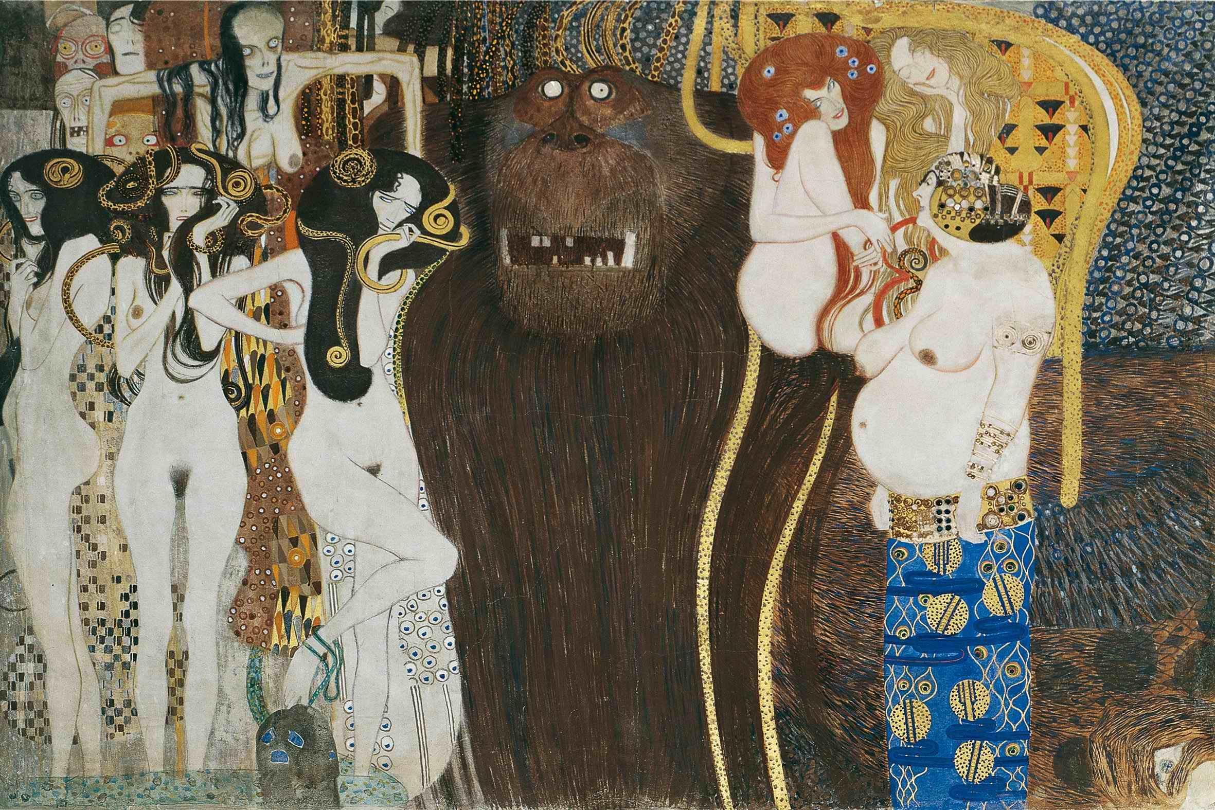 Beethoven Frieze | Gustav Klimt | oil painting