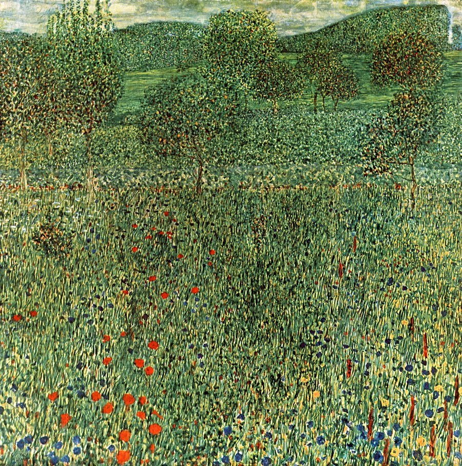 Blooming field | Gustav Klimt | oil painting