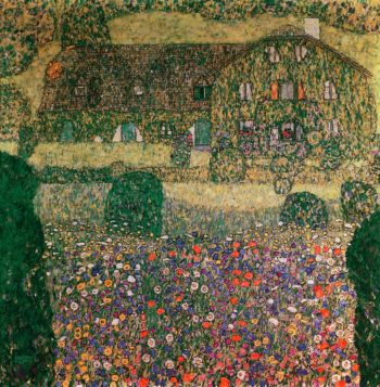 Country House by the Attersee | Gustav Klimt | oil painting