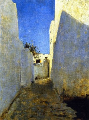 A Moroccan Street Scene | John Singer Sargent | oil painting
