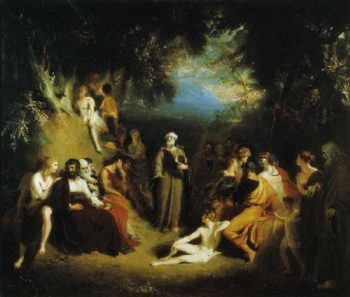 Homer Reciting His Poems   Sir Thomas Lawrence   oil painting