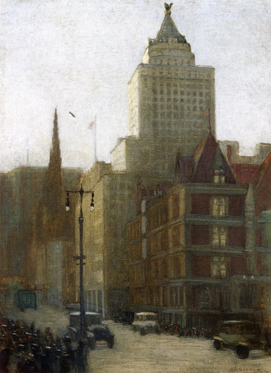 57th Street at Fifth Avenue   Aaron Harry Gorson   oil painting