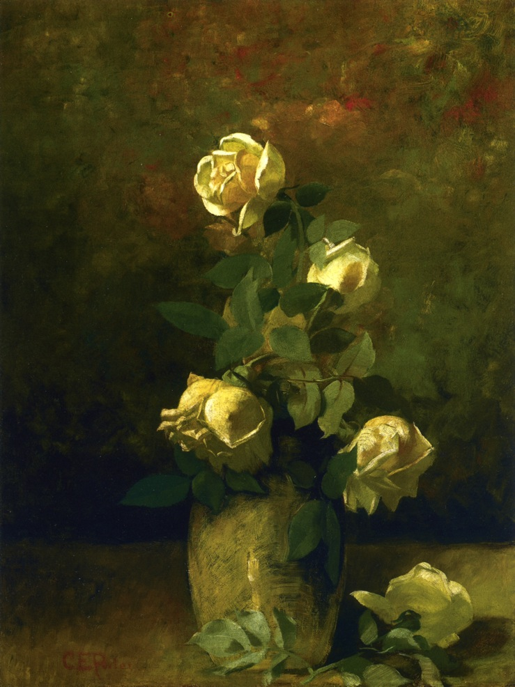 Yellow Roses In A Vase Painting Charles Ethan Porter Oil Paintings