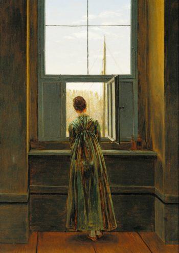 Woman at a Window | Caspar David Friedrich | oil painting
