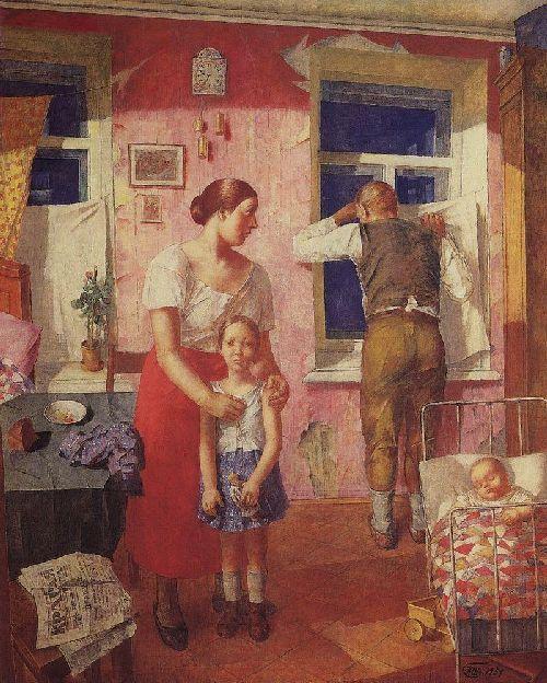 1919 Anxiety 1934 | Petrov Vodkin Kuzma Sergeevich | oil painting