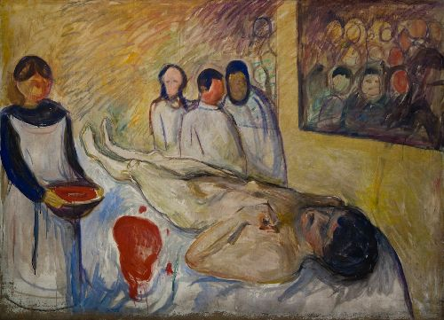 Self Portrait On The Operating Table | Edvard Munch | Oil Painting