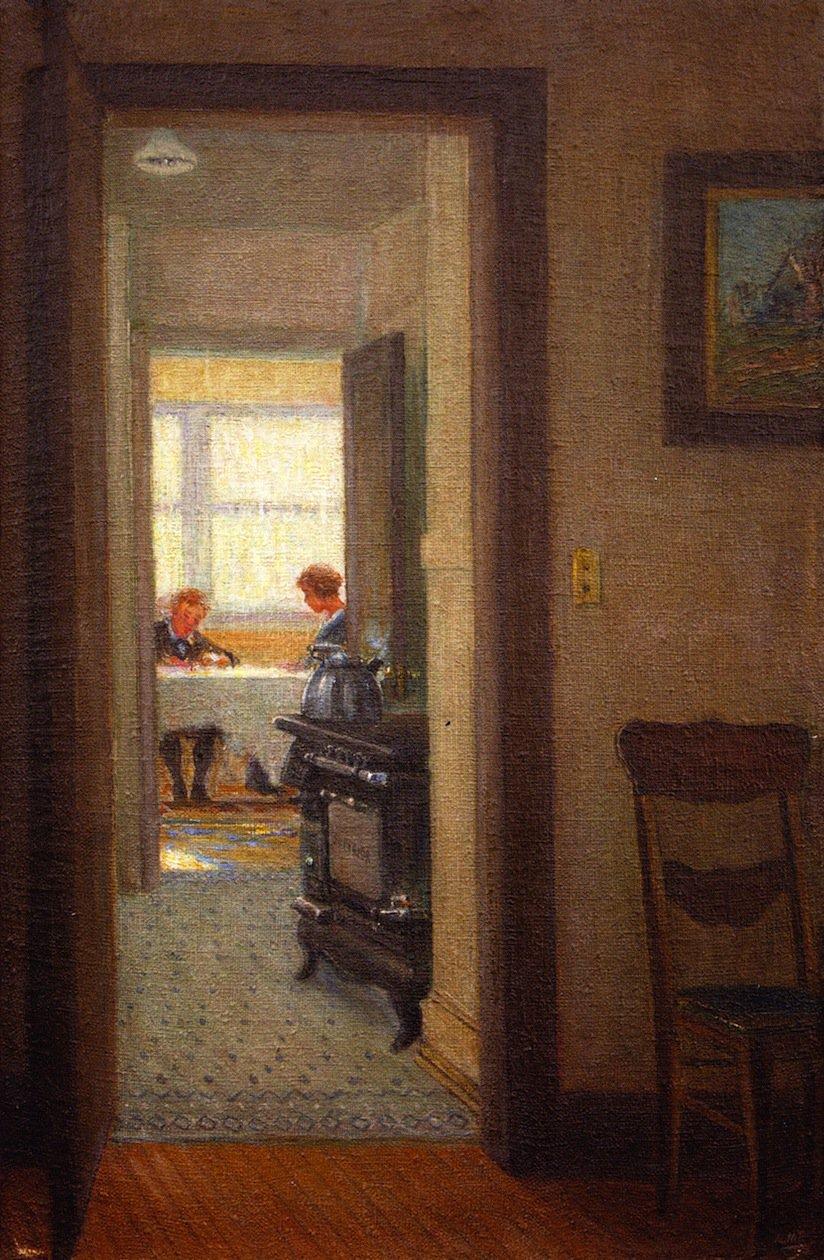 open door painting. The Open Door   George Van Millett Oil Painting Open Door E