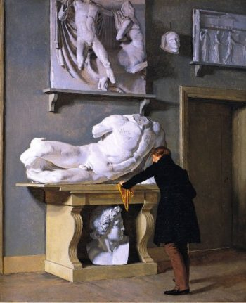 View of the Plaster Cast Collection at Charlottenborg Palace | Christen Kobke | oil painting