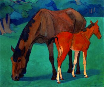 Mare and Foal | Robert Bevan | oil painting